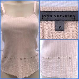John Varvatos 100% Silk Blush Pink Knit Top Small
